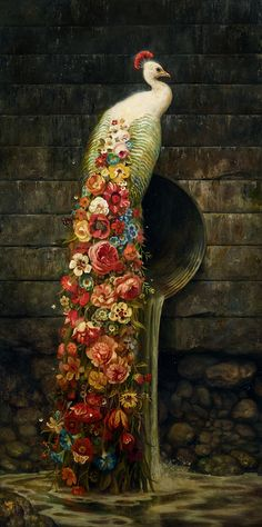 "abesworlds: "" Martin Wittfooth ""Bloom"" http://martinwittfooth.com/ """
