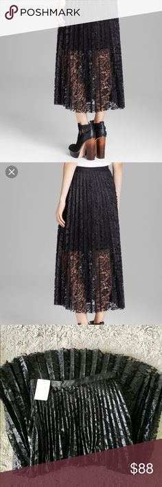 """Free People Skirt Super cute! New with tags! Waist: 14"""", length: 33"""". Free People Skirts Midi"""