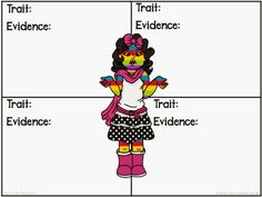 Read With Me ABC: A Bad Case of the Stripes - Character Trait Graphic Organizer {Freebie}