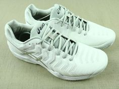 Asics Gel Resolution 7 PHF, E702Y, Men's Athletic Shoes, White - Gray, Size 11 #ASICS #AthleticSneakers