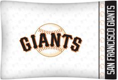 San Francisco Giants Micro Fiber Pillow Case Logo #sfgiants #SportsCoverage #SanFranciscoGiants