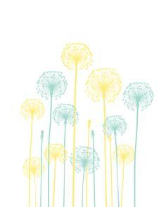 Free Dandelion Nursery Wall Decor Printable