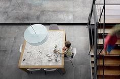 DESIGN INDUSTRY - OXIDE by Refin.  Design Industry is the new multi-material collection inspired by urban design and contemporary architectural trends. It includes two different surfaces offered in a wide range of sizes and colours to exalt the utmost project-planning freedom. - Urban Edge Ceramics