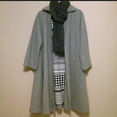 Vintage wool swing coat Adorable vintage swing coat. Excellent condition.  Has pockets.  One size fits most. I wore when I was a size M and can still wear it at xxl.  It's very warm. Jackets & Coats