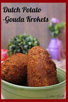 Dutch Potato Krokets - Aardappel Kroketten - The Schizo Chef Amish Recipes, Dutch Recipes, Great Recipes, Snack Recipes, Cooking Recipes, Favorite Recipes, Snacks, Potato Recipes, Kroketten Recipe