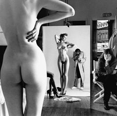 Helmut Newton: Self Portrait with Wife and Models, Vogue Studio, Paris 1981