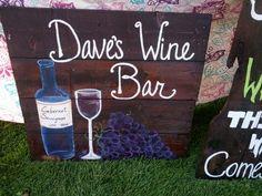 Wine bar pallet sign (hoc made 9-9-14)
