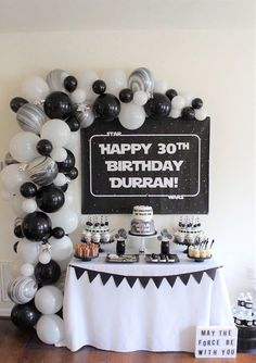 New party ideas birthday star wars ideas Adult Birthday Party, 30th Birthday Parties, Star Wars Birthday, Happy 30th Birthday, Man Birthday, Birthday Table, Birthday Cakes, Birthday Ideas, Adult Disney Party