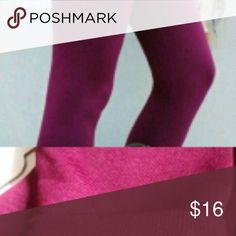Burgundy fur lined leggings Great quality, calf length, junior size fits Medium to large Pants Leggings