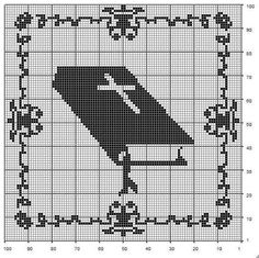 "Photo from album ""Рукоделие"" on Yandex. Cross Stitch Bookmarks, Cross Stitch Heart, Cross Stitch Patterns, Graph Crochet, Crochet Cross, Faith Crafts, Bible School Crafts, Catholic Crafts, Fillet Crochet"