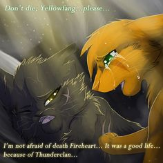 9. Yellowfang, Why? Yellowfang was always rude but she had a good heart, Now I know how Firestar felt when she died.