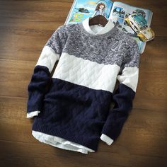 2017 winter pullover sweater brand knitting long sleeve O-neck Slim Korean fashion clothes men sweater God Works