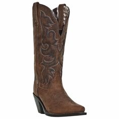 Find cute cowgirl boots like these Laredo women's wide western boots in brown leather from Leather Bound in New Jersey. Cowboy Boots Women, Cowgirl Boots, Western Boots, Western Cowboy, Riding Boots, Tan Leather, Leather Boots, Leather Sandals, Wedge Sandals