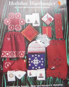 Holiday Hardanger Embroidery Pattern Book by TheHowlingHag on Etsy, $9.95