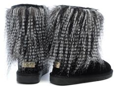 ugg sheepskin cuff boots 1875 in black  www.sheepskinsnowboots4u.com