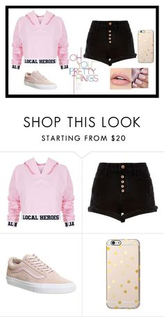 """Untitled #231"" by cutepinguinn ❤ liked on Polyvore featuring Local Heroes, River Island and Vans"