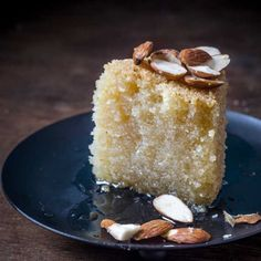Basbousa / Eggless Semolina Coconut Cardamom Cake