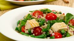 Grilled Chicken Barley Salad - Recipes - Best Recipes Ever - With crisp green beans and soft, chewy barley, this salad has loads of great texture and it's hearty too, perfect to pack in your lunch....