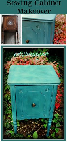ART IS BEAUTY: Antique sewing cabinet Redo