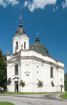 Baroque church of Our Lady of Sorrows in Dobrá Voda (South Bohemia), Czechia
