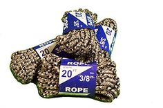 Rope 20ft 3/8 DIA Braided Solid Core Lightweight (Grey) Color: Grey, Model: 99020, Tools & Hardware store. Polypropylene and mixed synthetic core. lightweight and flexable, easy to knot. Economical and versatile, Rot and mildew resistant, U.V. stabilized. Multi color for high visability. Great for miscellaneous uses around the water.