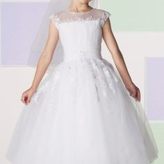 My daughter's first communion dress by Joan Calabrese