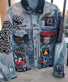 Painted Denim Jacket, Painted Jeans, Painted Clothes, Denim Jacket Men, Denim Jacket With Patches, Denim Man, Men Shorts, Men's Denim, Denim Jackets