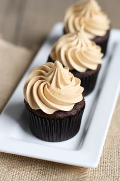 We're making Mom these Chocolate Cupcakes with Biscoff Buttercream Icing from our friend @Julie Forrest | The Little Kitchen for Mother's Day this weekend. Her special ingredient is Biscoff Spread - also known as cookie butter. Yum!