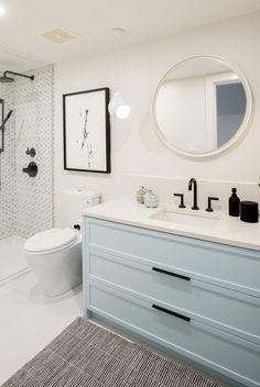 Home Decoration Grey .Home Decoration Grey House Bathroom, Bathroom Interior Design, Bathroom Renos, Home Remodeling, Girls Bathroom, Home Decor, House Interior, Bathrooms Remodel, Bathroom Decor
