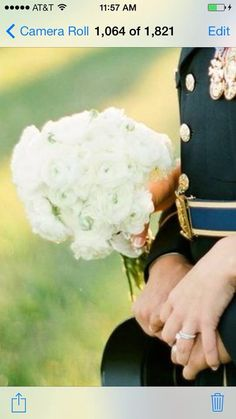 White Ranunculus bouquet featured on the cover of Weddings Illustrated made by Barrington Hill Design. www.barringtonhillweddings.com