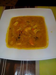 Sopa de marisco con fideos para #Mycook http://www.mycook.es/receta/sopa-de-marisco-con-fideos/