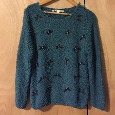 Lauren Conrad Bow Sweater (NWOT) Never worn Lauren Conrad Bow sweater. Size large LC Lauren Conrad Sweaters Crew & Scoop Necks