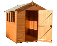larchlap 7x5 pressure treated overlap apex shed 2 door garden sheds and summerhouses pinterest gardens