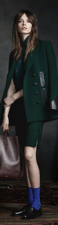 Maiyet Pre F-15, green suit: jacket with four pockets, skirt.