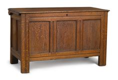 Fine and Rare Pilgrim Century Joined Oak and Chestnut Chest, attributed to John Norman, Jr., Probably Marblehead, Massachusetts, circa 1680