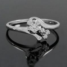 Platinum Plated 0.15ct Round Cut VVS Diamond Wedding Engagement Ring O899 #Jpjewels8 #Engagement