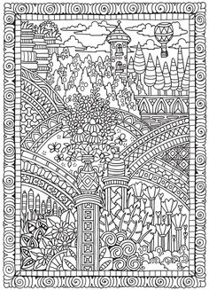 Welcome to Dover Publications Colouring Pages, Adult Coloring Pages, Free Coloring, Creative Haven Coloring Books, Dover Publications, Design Elements, Activities, Drawings, Artist