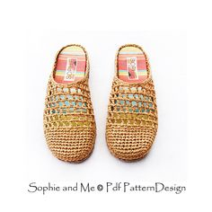Basic crochet slippers with handmade insoles, and Cord-Soles attached for street wear!
