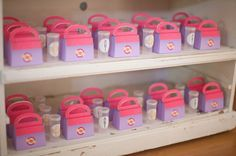 The candy went into tiny prescription bottles from Kara's Party Ideas Shop, while bigger items fit nicely into Doc McStuffins's paper doctor's bags from Piggy Bank Parties. Source: Jenny Cookies