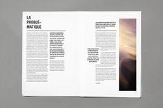 Mise en page, magazine graphique, gaspillage alimentaire, la problèmatique…