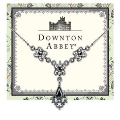 Downton Abbey Antiqued Silver-Tone Hematite Crystal Necklace 17722 #1928