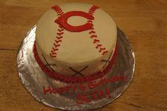 Cincinnati Reds baseball cake