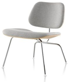 Herman Miller Eames Molded Plywood Upholstered Lounge Chair Metal Base    Modern   Chairs   By