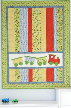 How cute and how simple. I love the appliqued train. But you could use any applique image or name