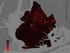 MILLION DOLLAR BLOCKS project by the Spatial Information Design Lab at Columbia University.