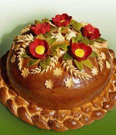 Traditional Ukrainian Wedding Korovai (bread), from Iryna with love Bread And Pastries, Ukrainian Recipes, Ukrainian Food, Bread Shaping, Bread Art, British Baking, Food Staples, Artisan Bread, Food Art