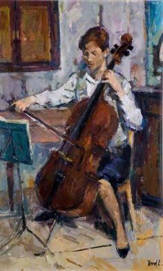 BBC - Your Paintings - Cello Player