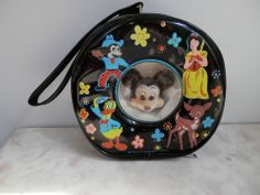 Vintage Mickey Mouse Purse Pocket Book  Little Girl Wristlet