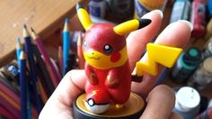Custom Flash Pikachu amiibo - View more here: http://buyamiibo.com/custom-amiibo-gallery/