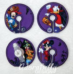 Mickey Mouse Disney Purple Gtube Covers Gtube Pads Mic-Key Mickey Button Halloween Minnie Donald Goofy by AdorabellyDesign on Etsy
